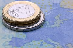 Moeda da União Europeia imagem de stock