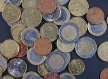 Moeda das moedas do Euro fotografia de stock