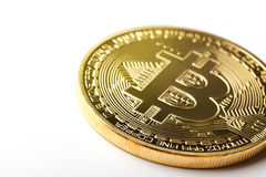Moeda de Bitcoin imagem de stock royalty free