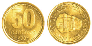 moeda de 50 centavos de Argentina Imagem de Stock Royalty Free