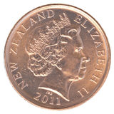 Moeda de 10 centavos de Nova Zelândia Fotos de Stock Royalty Free