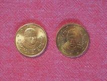 Moeda de 50 centavos do EUR Fotos de Stock