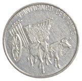 moeda de 25 centavos do peso da República Dominicana Fotografia de Stock