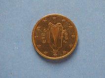 moeda de 50 centavos, União Europeia, Irlanda Fotografia de Stock Royalty Free