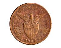 Moeda de cobre da era americana Imagem de Stock