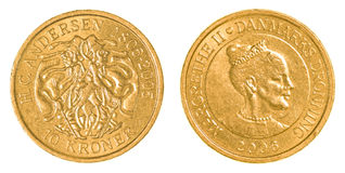 moeda de 10 coroas dinamarquesas Fotos de Stock Royalty Free