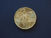 moeda de 20 coroas, República Checa Fotos de Stock
