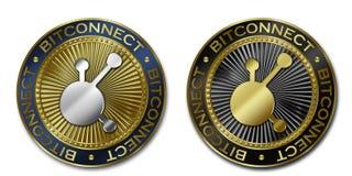 Moeda de Cryptocurrency BITCONNECT Ilustração Stock
