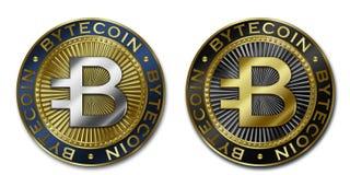 Moeda de Cryptocurrency BYTECOIN Ilustração Royalty Free