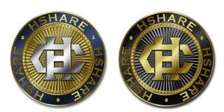 Moeda de Cryptocurrency HSHARE Ilustração Stock