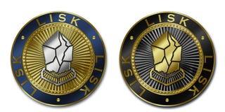 Moeda de Cryptocurrency LISK Ilustração Stock