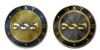 Moeda de Cryptocurrency NXT Imagem de Stock