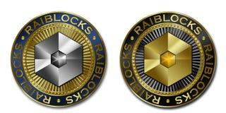 Moeda de Cryptocurrency RAIBLOCKS Ilustração Stock