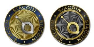 Moeda de Cryptocurrency SIACOIN Foto de Stock Royalty Free
