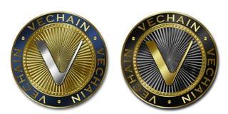 Moeda de Cryptocurrency VECHAIN Fotografia de Stock Royalty Free