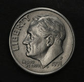 Moeda de dez centavos Imagem de Stock