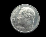 Moeda de dez centavos Foto de Stock