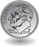 Moeda de dez centavos Fotografia de Stock