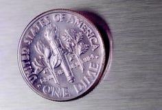 Moeda de dez centavos dos E.U. fotos de stock royalty free