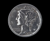 Moeda de dez centavos principal 1943 do Mercury Imagem de Stock Royalty Free