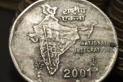 Moeda de duas rupias Foto de Stock Royalty Free