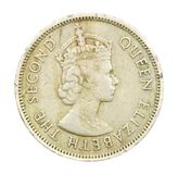 moeda de Hong Kong de 50 centavos de 1958 Fotografia de Stock Royalty Free