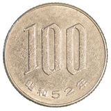 moeda de 100 ienes japoneses Fotografia de Stock Royalty Free