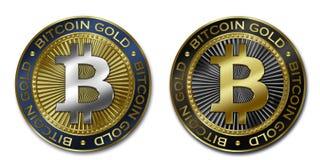 Moeda de OURO de Cryptocurrency BITCOIN Ilustração Royalty Free
