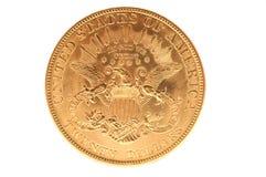 Moeda de ouro dobro americana da águia Fotos de Stock Royalty Free