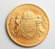 Moeda de ouro húngara Fotos de Stock Royalty Free