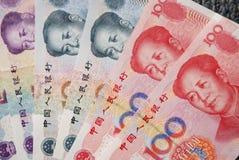 Moeda de papel chinesa Imagens de Stock Royalty Free
