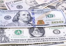 Moeda de papel dos E.U., nota de dólar Fotos de Stock Royalty Free