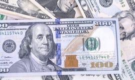 Moeda de papel dos E.U., nota de dólar Fotografia de Stock