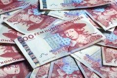 Moeda de papel sueco Fotografia de Stock Royalty Free