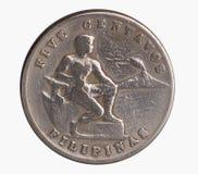 Moeda de prata da era americana Fotografia de Stock Royalty Free