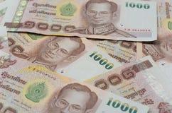 Moeda de Tailândia, fundo do baht tailandês. Fotos de Stock Royalty Free