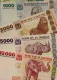 Moeda de Tanzânia imagens de stock