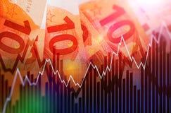 Moeda de troca do Euro Imagens de Stock