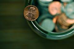 Moeda de um centavo Foto de Stock Royalty Free
