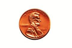 Moeda de um centavo americana Fotografia de Stock