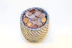 Moeda de um centavo britânica da moeda Imagens de Stock