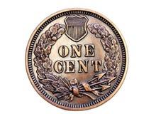 Moeda de um centavo Collectible Foto de Stock