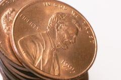 Moeda de um centavo de Lincoln Imagem de Stock Royalty Free