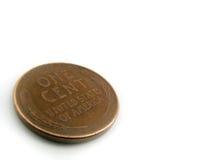 Moeda de um centavo do trigo Imagens de Stock Royalty Free