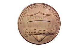 Moeda de um centavo dos E.U. Imagens de Stock