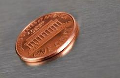 Moeda de um centavo dos E.U. Foto de Stock Royalty Free