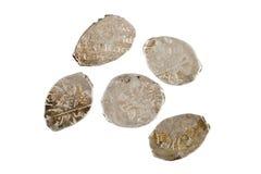 Moeda de um centavo dos kopeks das moedas de cobre do russo nomeada Imagem de Stock