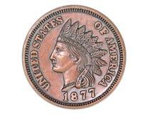 Moeda de um centavo histórica Fotografia de Stock Royalty Free