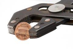 Moeda de um centavo Pincher 1 Foto de Stock Royalty Free