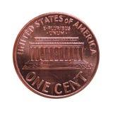 Moeda de USD do dólar, moeda do Estados Unidos EUA isolado sobre Imagem de Stock Royalty Free